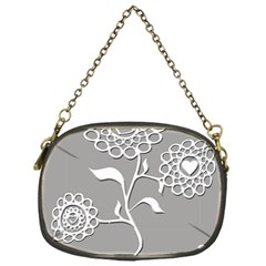 Flower Heart Plant Symbol Love Chain Purses (one Side)
