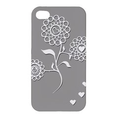 Flower Heart Plant Symbol Love Apple Iphone 4/4s Hardshell Case