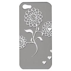Flower Heart Plant Symbol Love Apple Iphone 5 Hardshell Case by Nexatart