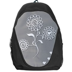 Flower Heart Plant Symbol Love Backpack Bag