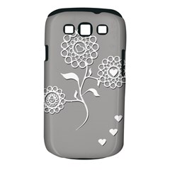 Flower Heart Plant Symbol Love Samsung Galaxy S Iii Classic Hardshell Case (pc+silicone) by Nexatart