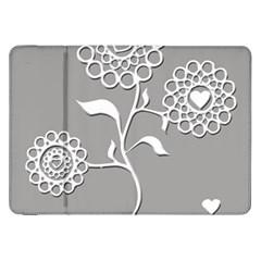 Flower Heart Plant Symbol Love Samsung Galaxy Tab 8 9  P7300 Flip Case