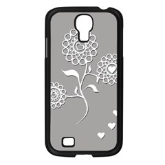 Flower Heart Plant Symbol Love Samsung Galaxy S4 I9500/ I9505 Case (black) by Nexatart