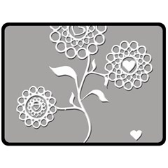 Flower Heart Plant Symbol Love Double Sided Fleece Blanket (large)  by Nexatart