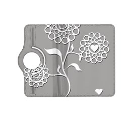 Flower Heart Plant Symbol Love Kindle Fire Hd (2013) Flip 360 Case