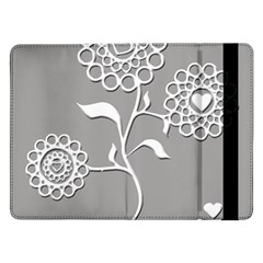 Flower Heart Plant Symbol Love Samsung Galaxy Tab Pro 12 2  Flip Case by Nexatart