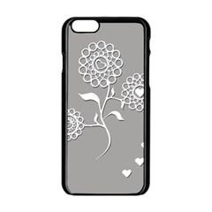 Flower Heart Plant Symbol Love Apple Iphone 6/6s Black Enamel Case