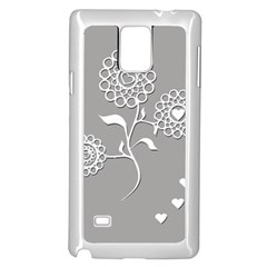 Flower Heart Plant Symbol Love Samsung Galaxy Note 4 Case (white) by Nexatart