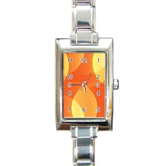 Abstract Orange Yellow Red Color Rectangle Italian Charm Watch by Nexatart