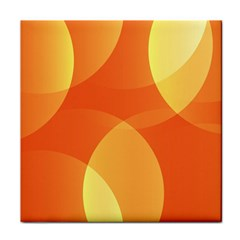 Abstract Orange Yellow Red Color Tile Coasters