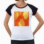 Abstract Orange Yellow Red Color Women s Cap Sleeve T Front