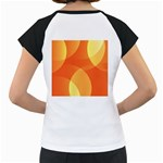 Abstract Orange Yellow Red Color Women s Cap Sleeve T Back