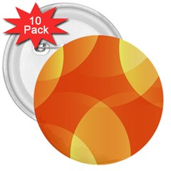 Abstract Orange Yellow Red Color 3  Buttons (10 Pack)