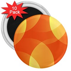 Abstract Orange Yellow Red Color 3  Magnets (10 Pack)