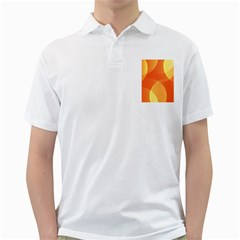 Abstract Orange Yellow Red Color Golf Shirts