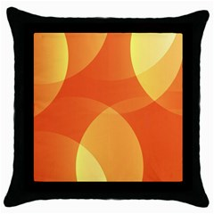 Abstract Orange Yellow Red Color Throw Pillow Case (black) by Nexatart