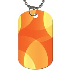 Abstract Orange Yellow Red Color Dog Tag (one Side) by Nexatart