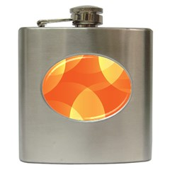 Abstract Orange Yellow Red Color Hip Flask (6 Oz) by Nexatart