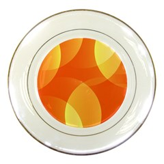 Abstract Orange Yellow Red Color Porcelain Plates by Nexatart