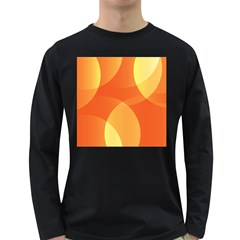 Abstract Orange Yellow Red Color Long Sleeve Dark T Shirts