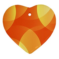 Abstract Orange Yellow Red Color Heart Ornament (two Sides) by Nexatart