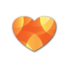 Abstract Orange Yellow Red Color Rubber Coaster (heart)  by Nexatart