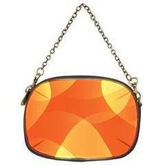 Abstract Orange Yellow Red Color Chain Purses (one Side)