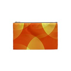 Abstract Orange Yellow Red Color Cosmetic Bag (small)  by Nexatart
