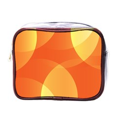 Abstract Orange Yellow Red Color Mini Toiletries Bags by Nexatart