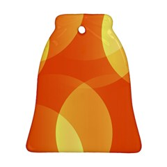 Abstract Orange Yellow Red Color Bell Ornament (two Sides)