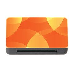 Abstract Orange Yellow Red Color Memory Card Reader With Cf