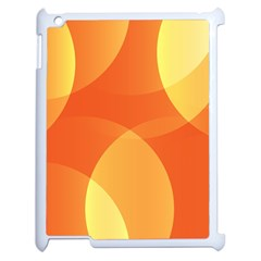 Abstract Orange Yellow Red Color Apple Ipad 2 Case (white) by Nexatart