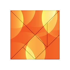 Abstract Orange Yellow Red Color Acrylic Tangram Puzzle (4  X 4 ) by Nexatart