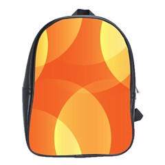 Abstract Orange Yellow Red Color School Bags (xl)  by Nexatart