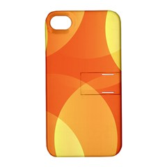 Abstract Orange Yellow Red Color Apple Iphone 4/4s Hardshell Case With Stand