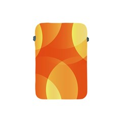 Abstract Orange Yellow Red Color Apple Ipad Mini Protective Soft Cases by Nexatart