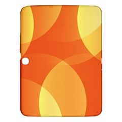 Abstract Orange Yellow Red Color Samsung Galaxy Tab 3 (10 1 ) P5200 Hardshell Case  by Nexatart
