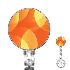 Abstract Orange Yellow Red Color Stainless Steel Nurses Watch