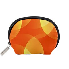 Abstract Orange Yellow Red Color Accessory Pouches (small)  by Nexatart