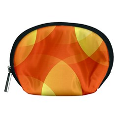 Abstract Orange Yellow Red Color Accessory Pouches (medium)