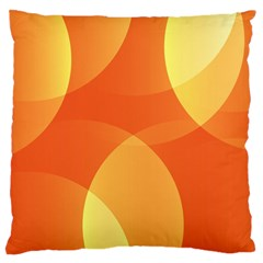 Abstract Orange Yellow Red Color Large Flano Cushion Case (one Side) by Nexatart