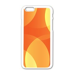 Abstract Orange Yellow Red Color Apple Iphone 6/6s White Enamel Case by Nexatart