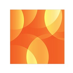 Abstract Orange Yellow Red Color Small Satin Scarf (square)