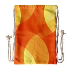 Abstract Orange Yellow Red Color Drawstring Bag (large) by Nexatart