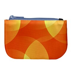 Abstract Orange Yellow Red Color Large Coin Purse