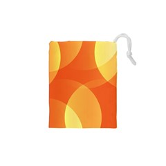 Abstract Orange Yellow Red Color Drawstring Pouches (xs)  by Nexatart