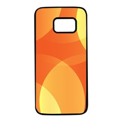 Abstract Orange Yellow Red Color Samsung Galaxy S7 Black Seamless Case by Nexatart