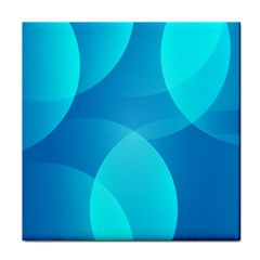 Abstract Blue Wallpaper Wave Tile Coasters