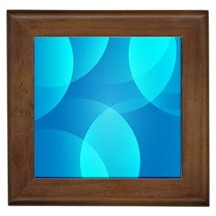 Abstract Blue Wallpaper Wave Framed Tiles by Nexatart