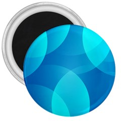 Abstract Blue Wallpaper Wave 3  Magnets by Nexatart